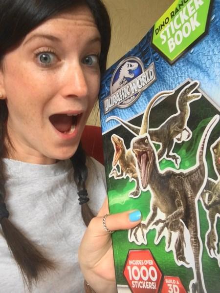 Jurassic World Sticker Book