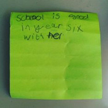 Year 6 Post It Note